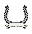 wreath crown emblem icon vector image