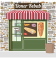 doner kebab fast food cafe vector image
