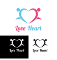 Sports heart vector image vector image