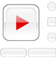 Play white button vector image