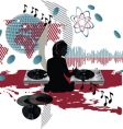 music poster dj vector image