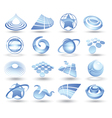 abstract space icons vector image