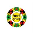 circle logo super game Desktop gambling vector image