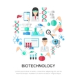 Biotechnology Round Composition vector image