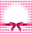 chequered napkin ribbon background vector image