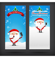 Collection of merry christmas card template with vector image