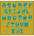 Fairy Alphabet Funny blue and yellow letters vector image