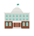 government building with dome and flag vector image