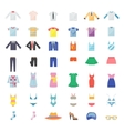 Large Set of Clothing Icons vector image