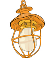 Old yellow lamp vector image