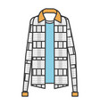 plaid sweater classic icon vector image