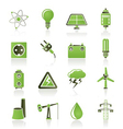 Power and electricity industry icons vector image