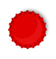 Red bottle cap vector image