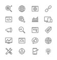search engine optimization thin icons vector image