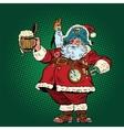 Santa Claus congratulates St Patricks day vector image