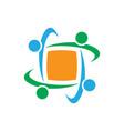 teamwork business logo image vector image