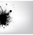 Black Blob And Stars vector image vector image