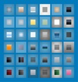 36 Icon Buton Graphic Styles vector image