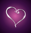 beautiful heart shape vector image