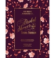 Bridal shower invitation template vector image vector image
