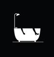 bathtub on black vector image