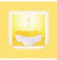 vintage cupcakes vector image vector image