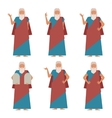 Set of Moses2 vector image