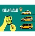call a taxi vector image