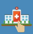 Conceptual of Health mobile application for vector image