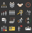human resource icon vector image