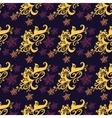 Seamless pattern purple background vector image