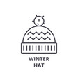 winter hat line icon outline sign linear symbol vector image