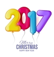 Merry Christmas and Happy New Year 2017 background vector image