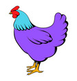 hen icon cartoon vector image