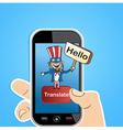 English translation app concept vector image vector image