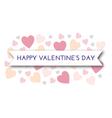 valentine pastel hearts vector image vector image