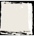 Abstract grunge frame Black and beige Background vector image
