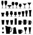 alcohol glasses vector image