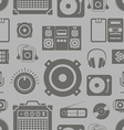 Audio equipment icons collection seamless pattern vector image vector image