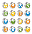simple ecology and recycling icons vector image vector image