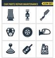 Icons set premium quality of car parts repair vector image