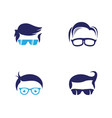 geek logo template vector image