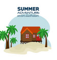 house on the beach landscape vector image
