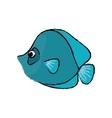 Marine fish cartoon vector image