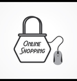 Online shopping Concept with shopping bag and mous vector image