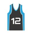 shirt team basketball isolated icon vector image