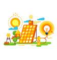 solar battery for lighting and energy design vector image