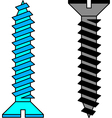 Stainless steel screw vector image