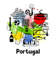 portugal print design portuguese national vector image vector image
