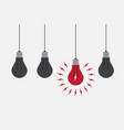 abstract flat design lightbulbs eureka concept vector image